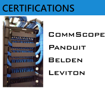 Cabling Certifications - CommScope, Panduit, Belden, Leviton